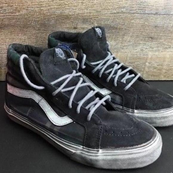 808154d948 Vans Sk8 Hi Reissue CA Overwashed Plaid Skate Shoe